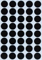 Royal Green Round Labels Colored dot Stickers 19mm 3/4 inch - Black - 600 Pack