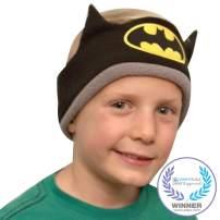 CozyPhones Kids Headphones Volume Limited with Ultra-Thin Speakers & Super Soft Fleece Headband - Perfect Toddlers & Children's Earphones for Home, School & Travel - Batman