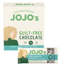 JOJO's Goes Hawaiian Sugar-Free Guilt-Free Chocolate, Macadamia Nuts, Coconut, Sea Salt, and Plant Based Protein - 12 Bars I Low Carb I KETO I Paleo & Vegan Friendly