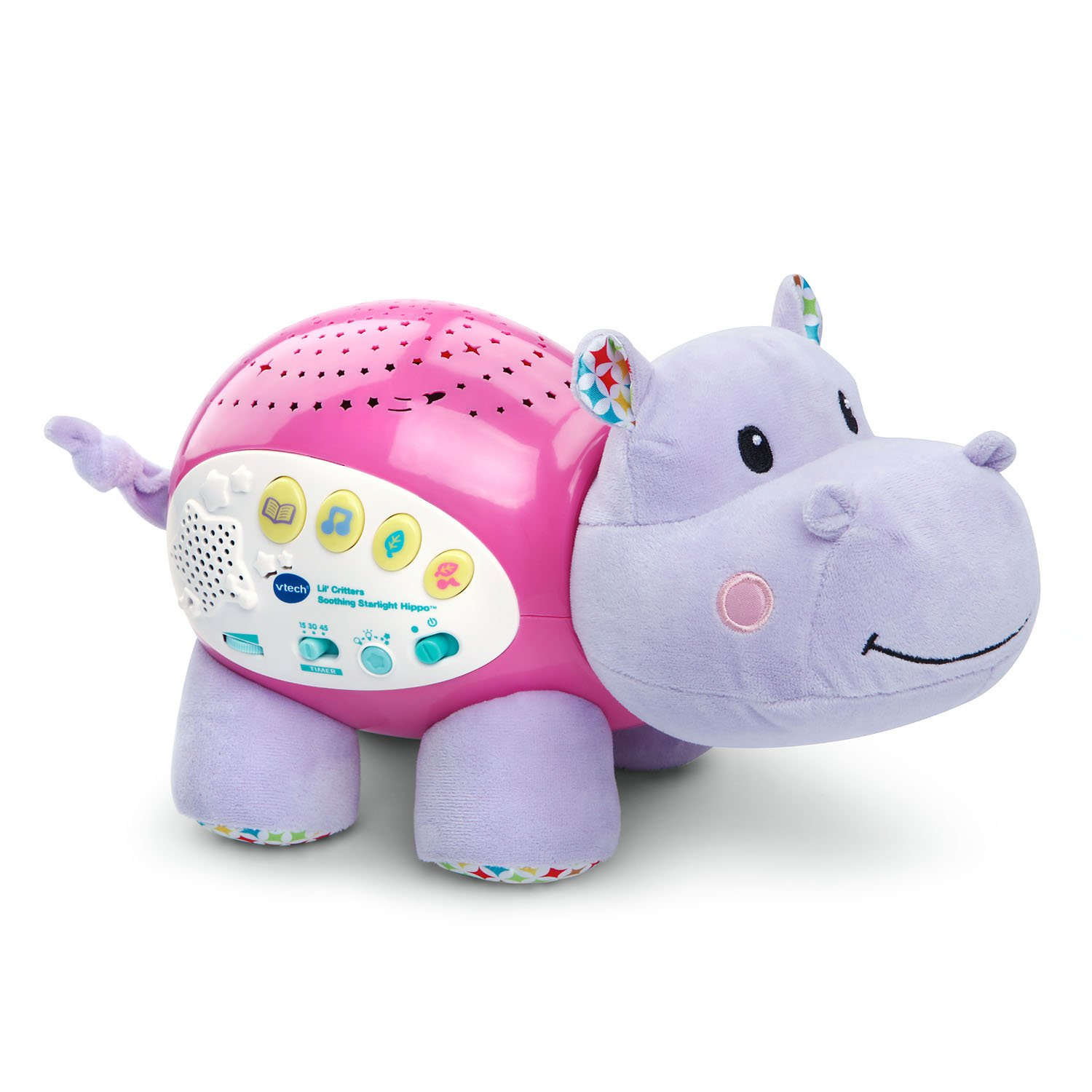 VTech Baby Lil' Critters Soothing Starlight Hippo, Pink (Amazon Exclusive), Great Gift For Kids, Toddlers, Toy for Boys and Girls, Ages Infant, 1, 2