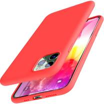 TOZO for iPhone 11 Pro Case 5.8 Inch (2019) Liquid Silicone Gel Rubber Shockproof Shell Ultra-Thin [Slim Fit] Soft 4 Side Full Protection Cover for iPhone 11 Pro with [Red]