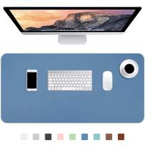 """Hsurbtra Desk Pad, 30"""" x 14"""" PU Leather Desk Mat, XL Extended Mouse Pad, Waterproof Desk Blotter Protector, Thin Large Laptop Keyboard Mat, Non-Slip Desk Writing Pad for Office Home, Dark Blue"""