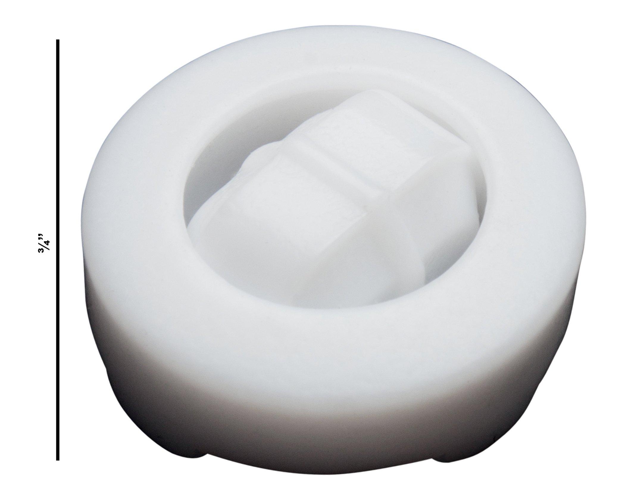 Bel-Art Spinring Teflon Magnetic Stirring Bar; 12.7 x 8mm, 19mm Ring O.D, White (F37140-0005)