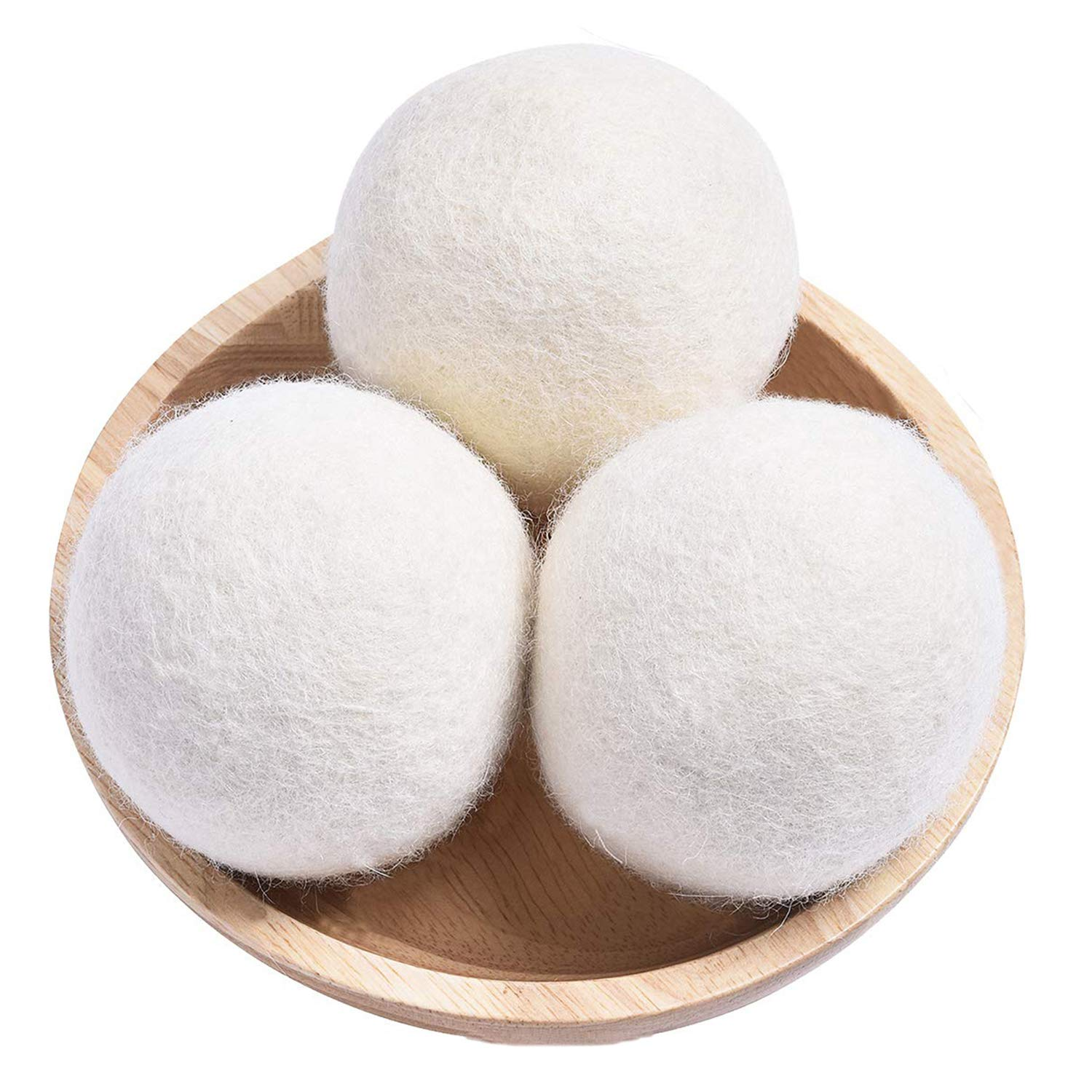 Organic Wool Dryer Balls XL,Handmade Laundry Dryer Balls Eco Reusable Natural Fabric Softener, Dryer Sheets Alternative,100% New Zealand Wool Extra-Large Dryer Ball,Reduce Wrinkles & Saves Drying Time