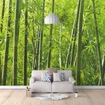"Liveinu Deep Forest Waterfall Mural,Wall Sticker,Removable Wall Mural,Home Decor,Bamboo Forest 2,144"" x 100"""