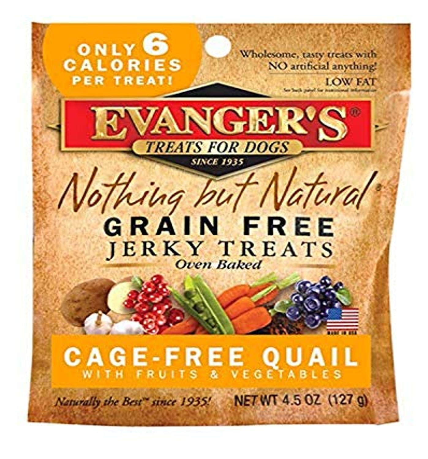 Evanger's Nothing But Natural Jerky Treats for Dogs - 4.5 oz