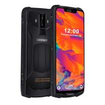 Rugged Mobile Phone Unlocked, DOOGEE S90 C Cellphone Android 9.0, 4G Dual SIM Free Smartphone Outdoor, 4+128GB, 16+8+8MP AI Cameras, 6.18 Inch FHD/5050mAh/Face ID/GPS/NFC/Wireless Charge Phone, Black