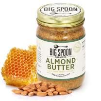 Big Spoon Roasters Almond Butter With Organic Wildflower Honey & Sea Salt - Keto Friendly Raw Honey Almond Butter - Crunchy Almond Butter - Gourmet, Pure Almond Nut Butter - 13 Ounces