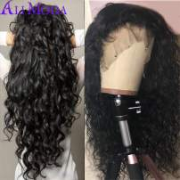 Ali Moda Brazilian 10A Water Wave Lace Frontal Wigs 130% Density Pre-Plucked Human Virgin Hair Nature Hairline With Baby Hair 18 inch