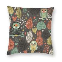 ainidamiss Owls in The Trees Throw Pillow Covers Pillow Cases Pillowcase Without Insert 1 Pcs 18x18in Perfect for Couch, Sofa, Bed, Accent Pillows