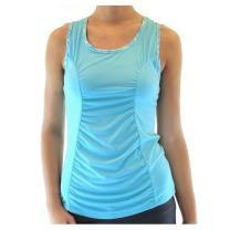 Alex + Abby Women's Inspire Shirred Panel Tank