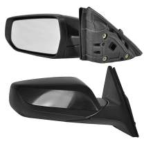 Driver and Passenger Side Power Operated Mirrors With Matching Paint Fits 16-18 Malibu LS, LS Model - Manual Folding - GM1321538, GM1320538