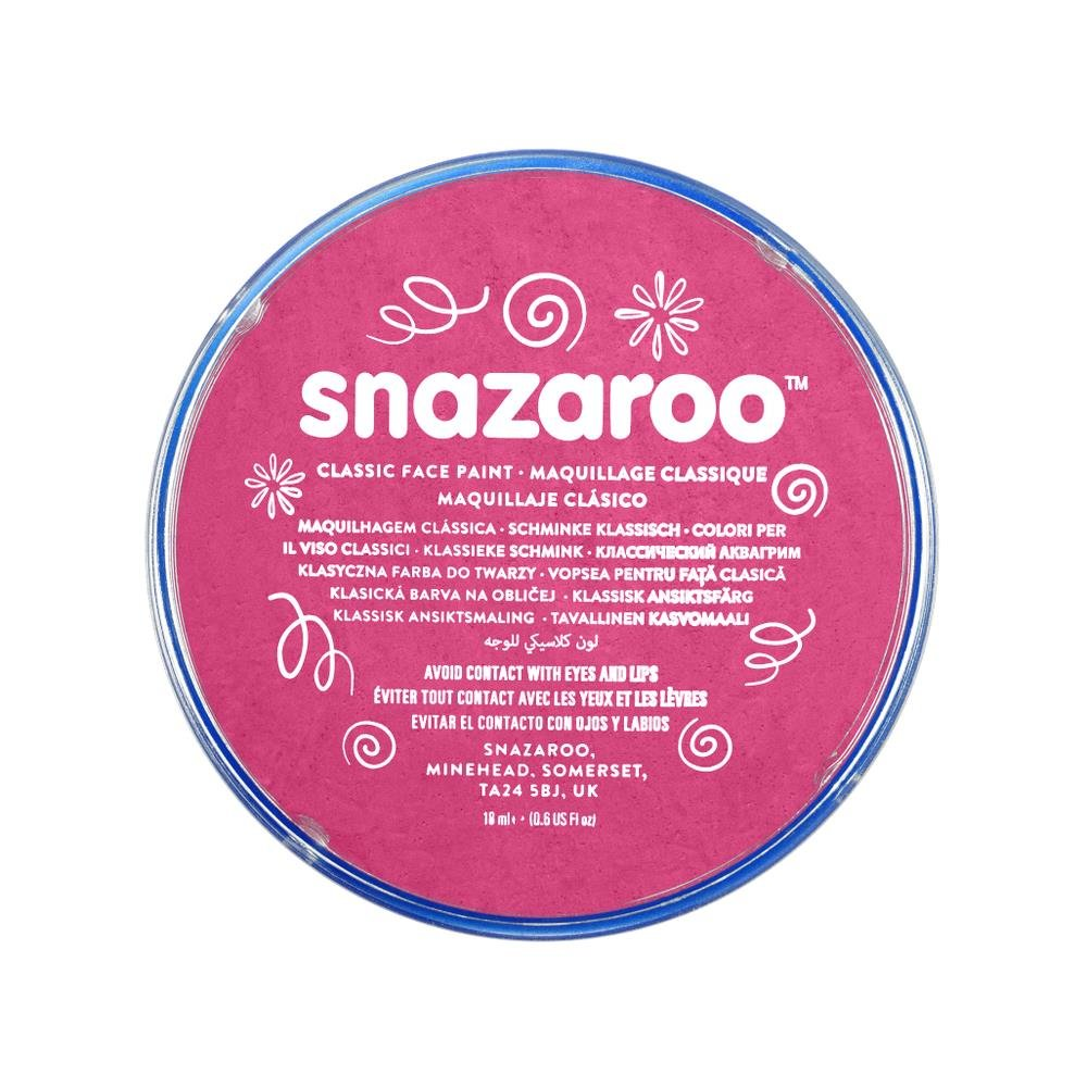Snazaroo Classic Face and Body Paint, 18ml, Fuchsia Pink, 6 Fl Oz