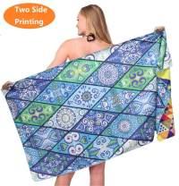 Microfiber Sand Free Beach Towel-Quick Dry Super Absorbent Lightweight Thin Towels Blanket for Travel Pool Swimming Bath Girl Women Men Adult Blue Boho Bohemian