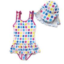 Baby Girl One Piece Bathig Suit with UPF 50+ Sun Protection