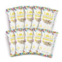 Taali White Cheddar Water Lily Pops (10-Pack) - Buttery Rich American Flavor | Protein-Rich Roasted Snack | Non GMO Verified | Individual 0.8 oz Bags