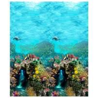 Shannon Fabrics Digital Minky Cuddle Ocean Fabric Fabric by the Yard