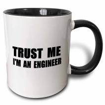 3dRose 195603_4 Trust Fun Engineering Humor-Funny Job Work Gift Mug, 11oz, Black