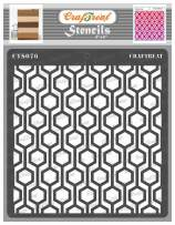 CrafTreat Geometric Stencils for Painting on Wood, Wall, Tile, Canvas, Paper, Fabric and Floor - Connected Hexagon Stencil - 6x6 Inches - Reusable DIY Art and Craft Stencils