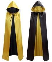 makroyl Unisex Reversible Hooded Cloak Cape for Christmas Halloween Party Vampires Cosplay Costumes