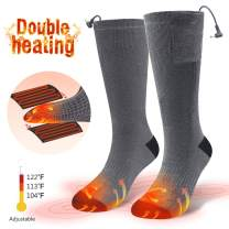 CAVEEN Heated Socks Men Women Electric Rechargeable Battery Heated Thermal Socks, Winter Warm Socks with 3 Heating Settings, Sports Outdoor Ski Camping Hunting Hiking Foot Boot Heater Warmer