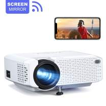 Crosstour Mini WiFi Projector Synchronize Smartphone Screen Video Proyector Full HD 1080p Supported for iPhone/Android Phones/TV Box/PC/PS4/TV Stick/Tablet