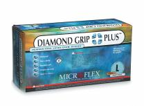 "Microflex DGP-350-L Diamond Grip Plus DPG350 6.3 Mil 9½"" Exam Grade Disposable Latex Gloves (100 Pack) Cream, Large (Pack of 100)"