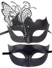IETANG Couple Mask Half Venetian Masquerade Ball Mask Party Costume Accessory