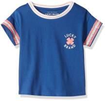 Lucky Brand Girls' Short Sleeve Classic Script Logo Tee Shirt