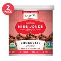 Miss Jones Baking Gluten-free Organic Frosting, Chocolate (Pack of 2)