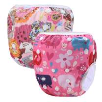 storeofbaby Water Diapers for Baby Girl Adjustable Swimming Pants Covers 8-36lbs
