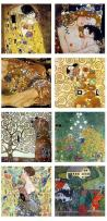 """Alonline Art - Tree Life Kiss Woman by Gustav Klimt 