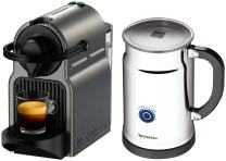 Nespresso A+C40-US-TI-NE Inissia Espresso Maker with Aeroccino Plus Milk Frother, Titan (Discontinued Model)