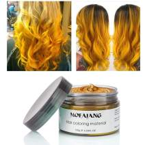 Hair Coloring Wax Wash Out Hair Color Temporary Hairstyle Cream 4.23 oz Hair Pomades Natural Ash Matte Hairstyle Wax for Men and Women (Gold)