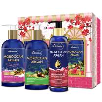 StBotanica Moroccan Argan Shampoo + Argan Conditioner + Argan Hair Growth Oil