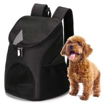Lasten Pet Backpack Pet Carrier Backpack for Small Dogs with Breathable Mesh Pet Hiking Backpack Fits Cats Puppies Pet Traveling Backpack - Black