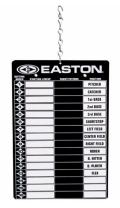 Easton Ultimate Magnetic Line Up Board | 2020 | Keep Your Team Lineup Like The Pro's | Includes Pen and Hanging Fence Hood | Everyone Player Will Know Their Position and Batting Order