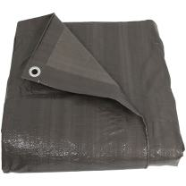 Sunnydaze 12x16 Heavy Duty Waterproof UV Resistant Tarp - Outdoor Reversible Dark Gray Poly Tarpaulin Cover - Multi-Purpose Painting, Camping and Backpacking Tarp