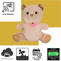 Discover IT   Wi-Fi Hidden Camera Spy Cam Home Surveillance Nanny Cam Teddy Bear with Cloud Video Recording, Battery Operated
