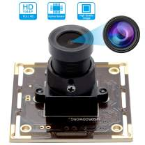 Camera USB 5 Megapixel 2592X1944 Webcamera with Aptina Sensor High Difinition Webcam for Industrial, Machine Vision,Correctable,USB2.0 with Camera Module 3.6mm Lens, UVC for Android Windows Linux Mac