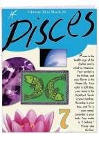 NobleWorks, Pisces Zodiac Sign - Big Happy Birthday Card (8.5 x 11 Inch) - Personality, Motto, Birth Stone, Symbol J9441