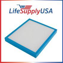 LifeSupplyUSA 4 Pack Replacement True HEPA Filter Compatible with Homedics AF-10FL AR-10 AF-75FL AF-75 AT-75 Hypoallergenic Air Purifier
