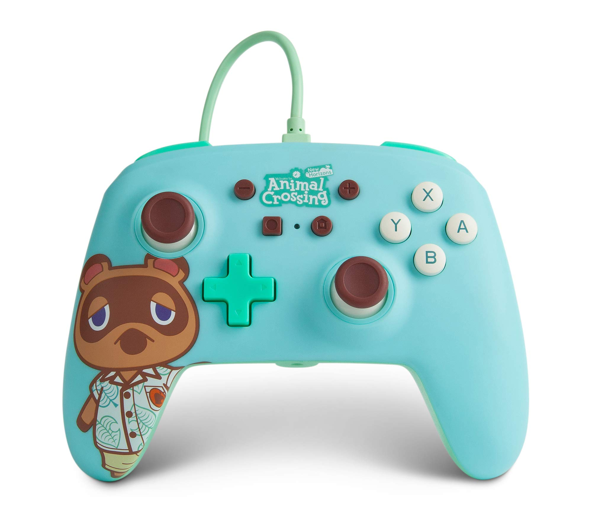 PowerA Enhanced Wired Controller for Nintendo Switch - Animal Crossing: Tom Nook, Nintendo Switch Lite, Gamepad, Game Controller, Wired Controller, Officially Licensed - Nintendo Switch