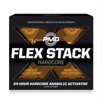 PMD Sports Flex Stack Hardcore 24-Hour Healthy Testosterone Stack For Increased Muscle Mass, Strength, Reduce Soreness, Libido And Restful Sleep - Methyl Andro Hardcore 90 Capsules, Z-Test 90 Capsules