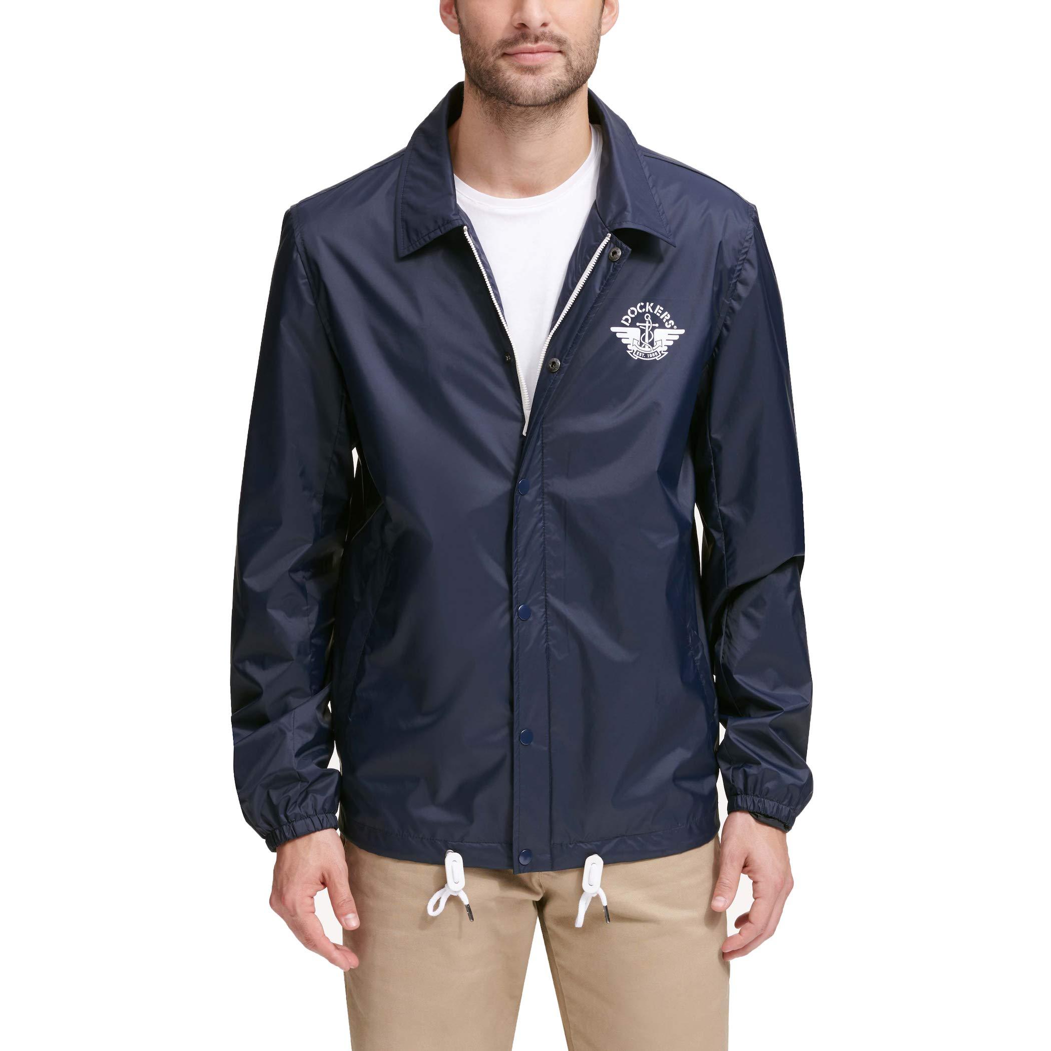 Dockers Men's The Brady Lightweight Nylon Coaches Jacket