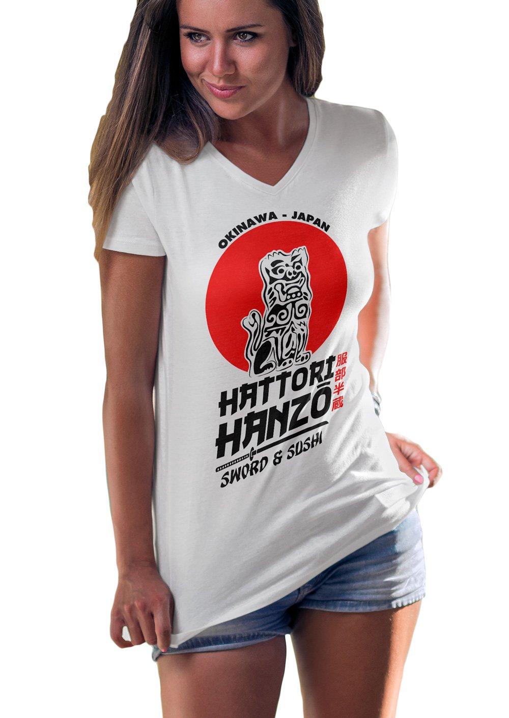 LeRage Shirts Hattori Hanzo Sword and Sushi Kill Bill Fan Made Shirt Women's