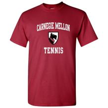 NCAA Arch Logo Tennis, Team Color T Shirt, College, University