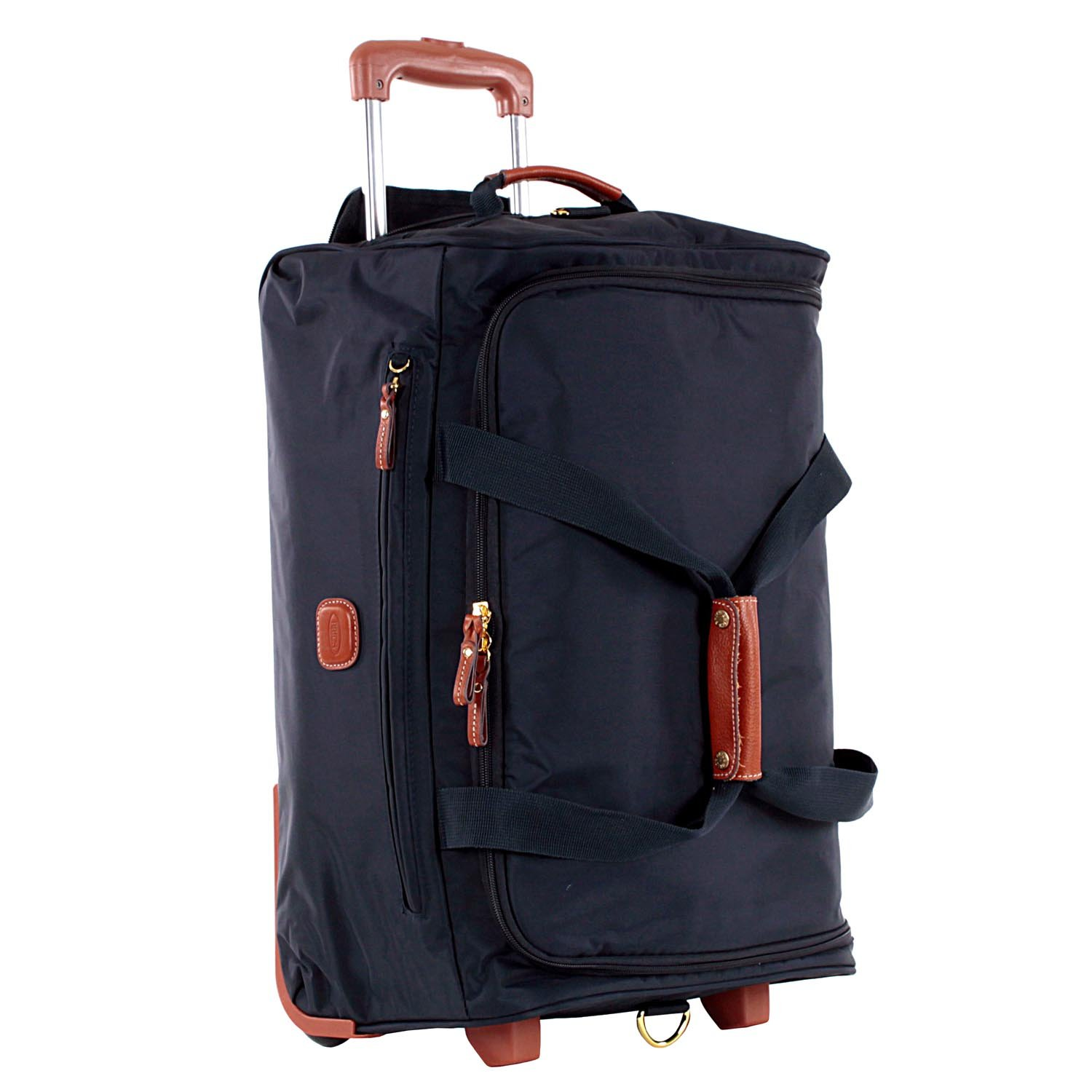 """Bric's X-BAG 21 Inch"""" CARRY-ON ROLLING DUFFLE BAG - NAVY"""
