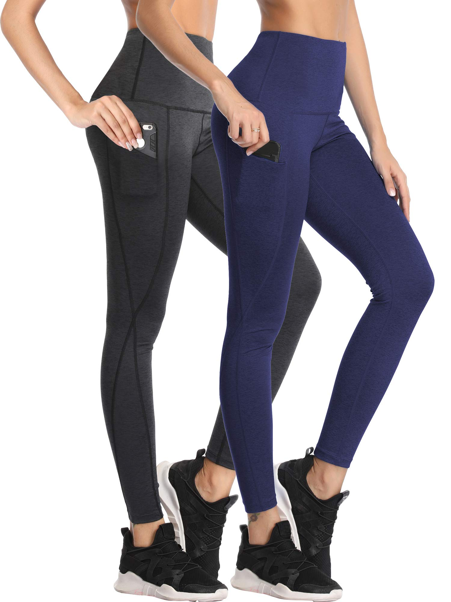 Neleus Women's Yoga Pants Tummy Control High Waist Workout Leggings with 2 Pocket