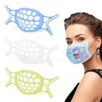 3D Mask Bracket 3PCS - Upgraded Silicone Face Mask Inner Support Frame for More Breathing Space, Keep Fabric off Mouth, Lipstick Protector Washable Reusable